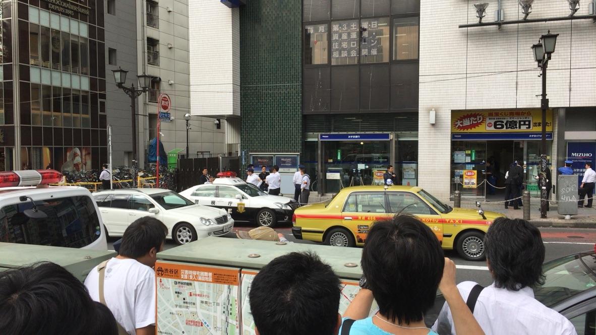 物々しい雰囲気の渋谷駅前